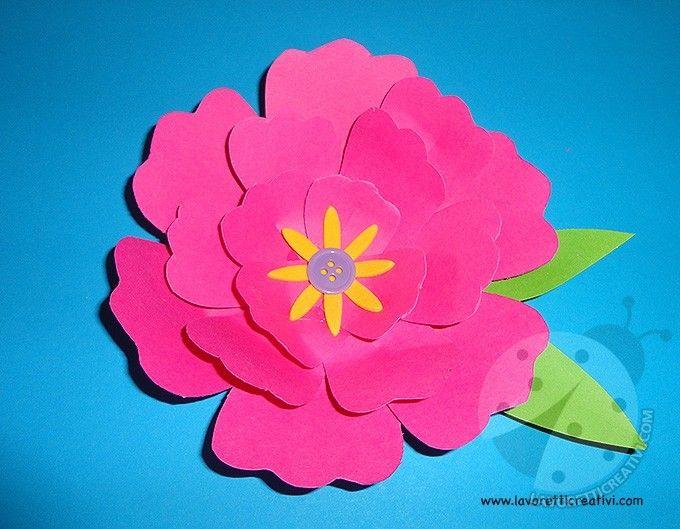Come fare fiori di carta semplici per gli addobbi. Idea da tenere presente come lavoretto perla Festa della Mamma. LAVORETTI FACILI Come realizzare unfio