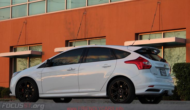 Awesome 2014 Ford Focus St White Car Images Hd Black RimsNew Model