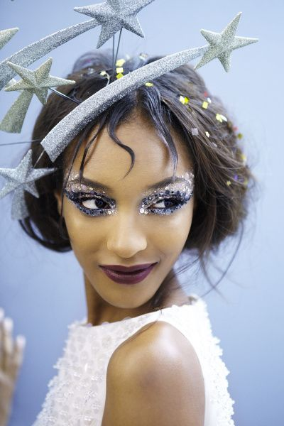 """A Christian Dior model showing off """"Out of this World"""" make-up!"""