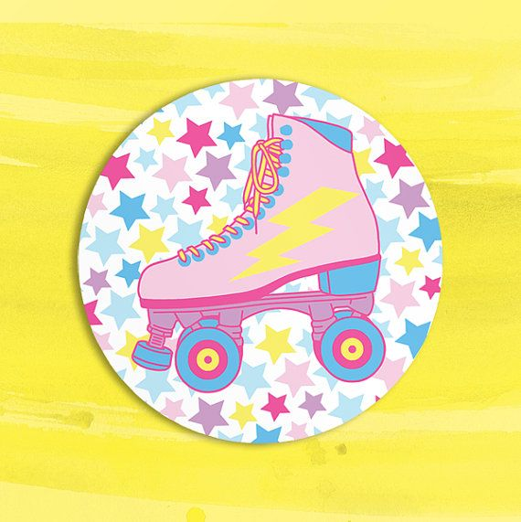 get your retro groove back with a set of these candy cute roller skate stickers! Perfect for the aspiring roller derby diva or anyone who misses the