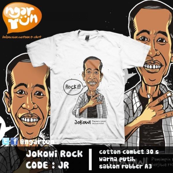 Kaos Ngartun Jokowi Rock