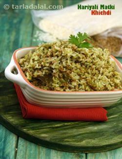 Hariyali Matki Khichdi recipe | by Tarla Dalal | Tarladalal.com | #39571