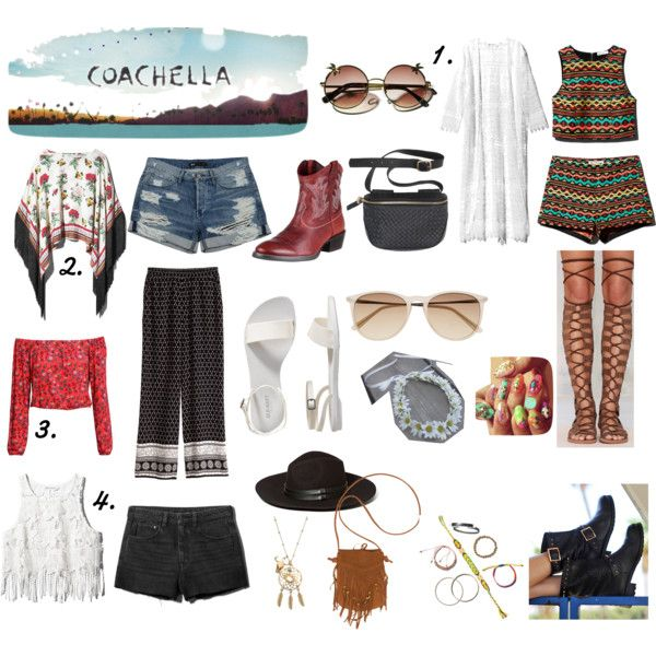 Coachella Festival Looks! by ellegirlxo on Polyvore featuring H&M, Jeffrey Campbell, Old Navy, Billabong and Witchery