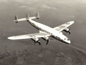 9 January 1943 first flight #flighttest of the Lockheed C-69 Constellation military variant of the familiar Constellation.