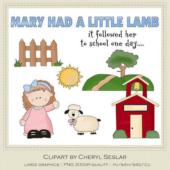 Mary Had a Little Lamb Clipart by Cheryl Seslar ...