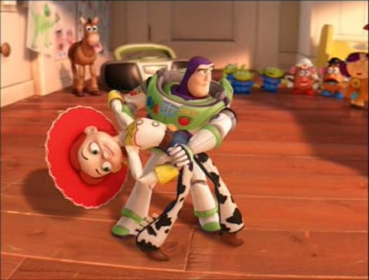 """The song that Jessie and Buzz salsa dance to is a Spanish version of """"You've Got A Friend In Me"""". Jessie and Buzz's dance scene during the end credits was choreographed by Cheryl Burke and Driton 'Tony' Dovolani, both known for appearing in the American version of """"Dancing with the Stars"""" (2005/I)."""
