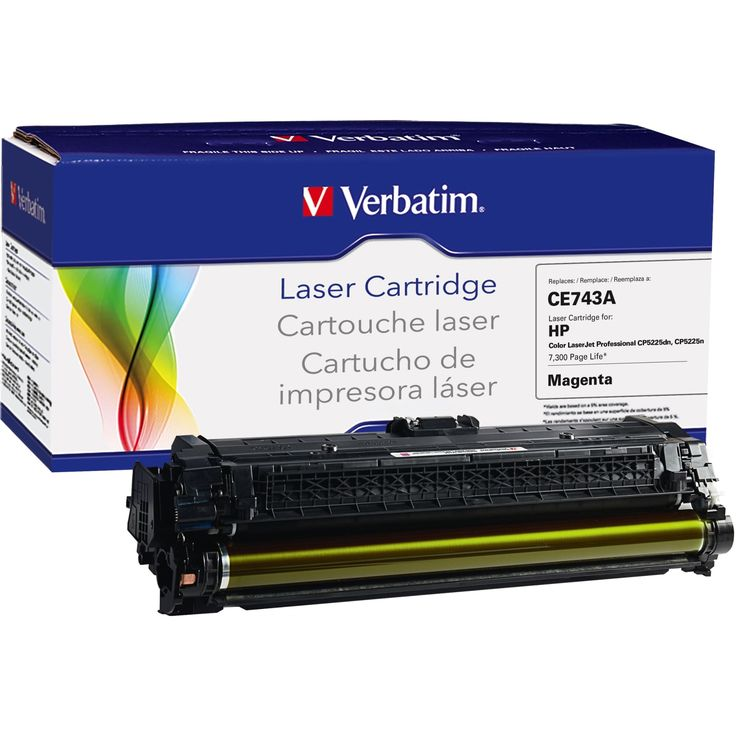 Verbatim Remanufactured Laser Toner Cartridge alternative for HP CE74, Pink #99386
