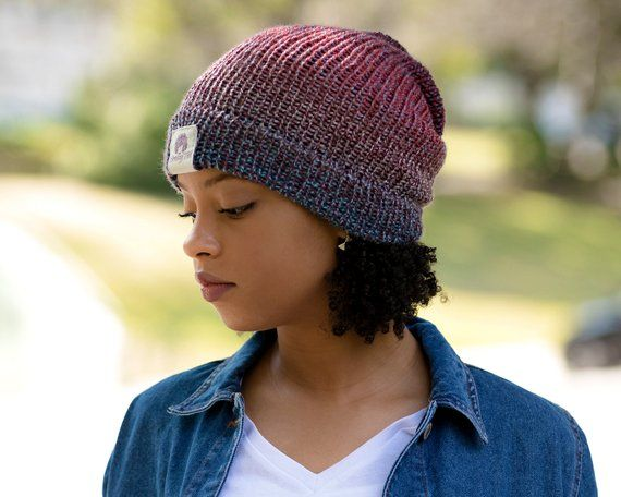 Satin Lined Knit Beanie Black Locks In Hair Moisture /& Frizz Control For Naturally Curly Hair and Kinky Curly Hair