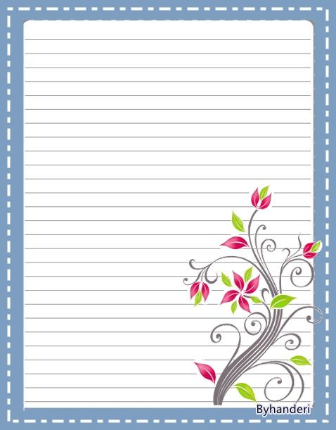 296 best ESCRIBIENDO LINDAS CARTAS images on Pinterest Writing - free printable lined stationary