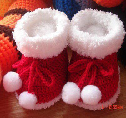Baby knit boties free pattern