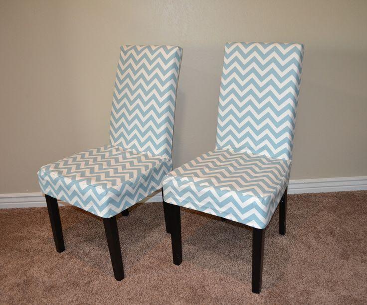 Grey Chevron Chair Cover