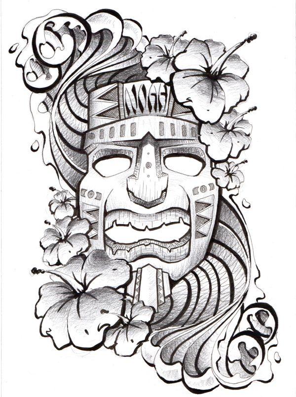 Hawaiian Tattoo by Todd Robinson ©Todd Robinson www.illustra-tr.co.uk