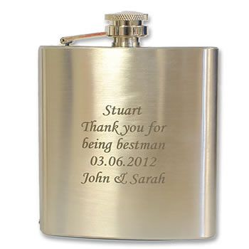 Stainless Steel Personalised Hip Flask