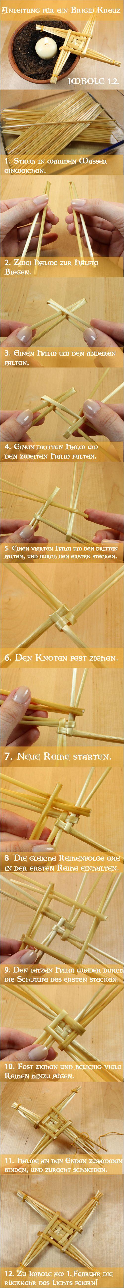 Brigid Kerze - Anleitung  Imbolc - Brigid candle DIY