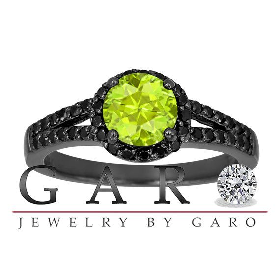 Aquamarine Fancy Black Diamond Engagement Ring Vintage Style Gold Carat Halo Pave Set Handmade Certified Unique Jewelry By Garo