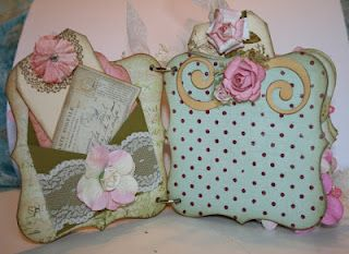 Shabby Chic mini chipboard album...more pics onmy blogs and Youtube