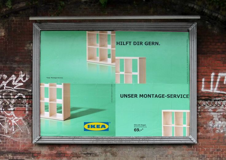 #Ikea Assembly Fail, in cui il cartellone pubblicitario è concepito come un puzzle da montare e che gioca sulla metafora dell'assemblare i pezzi del mobile…