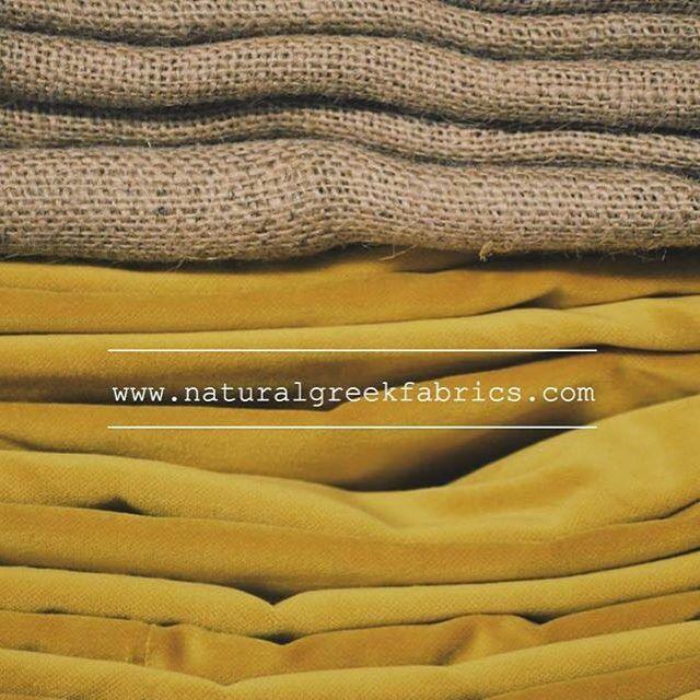 Velvet & yuta in store!  www.naturalgreekfabrics.com #naturalgreekfabrics #natural #fabrics #home #interior #design #athens #greece