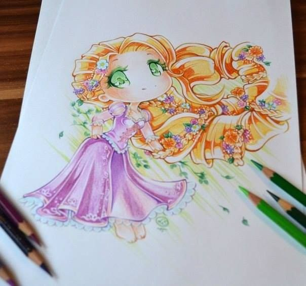 princesas disney tiernas dibujo Lighane-5