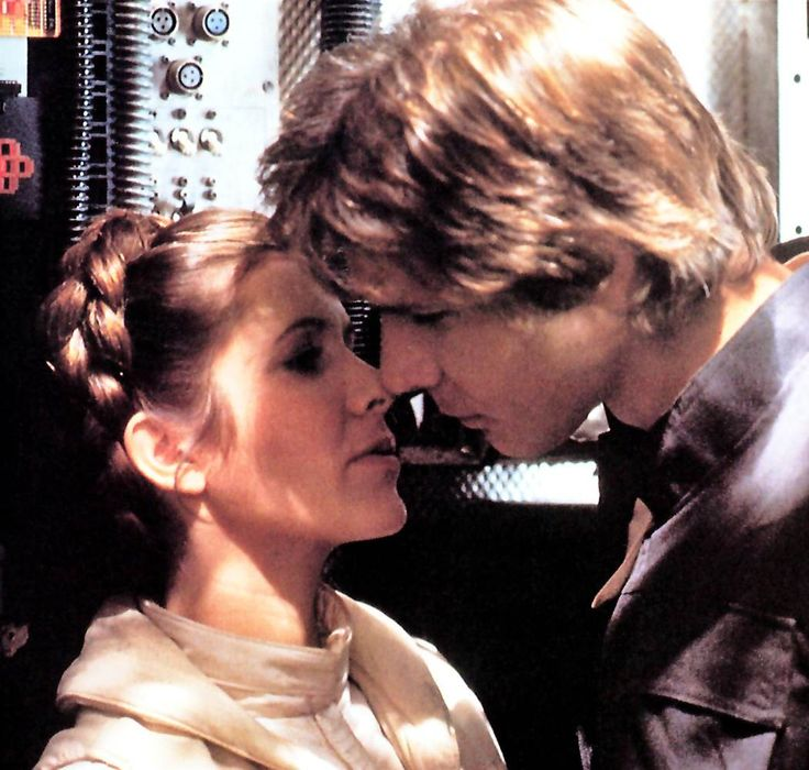 Most Famous Kisses - 'The Empire Strikes Back' - Han Solo (Harrison Ford) and Princess Leia (Carrie Fisher) find the Force of mutual attraction in the second Star Wars film.