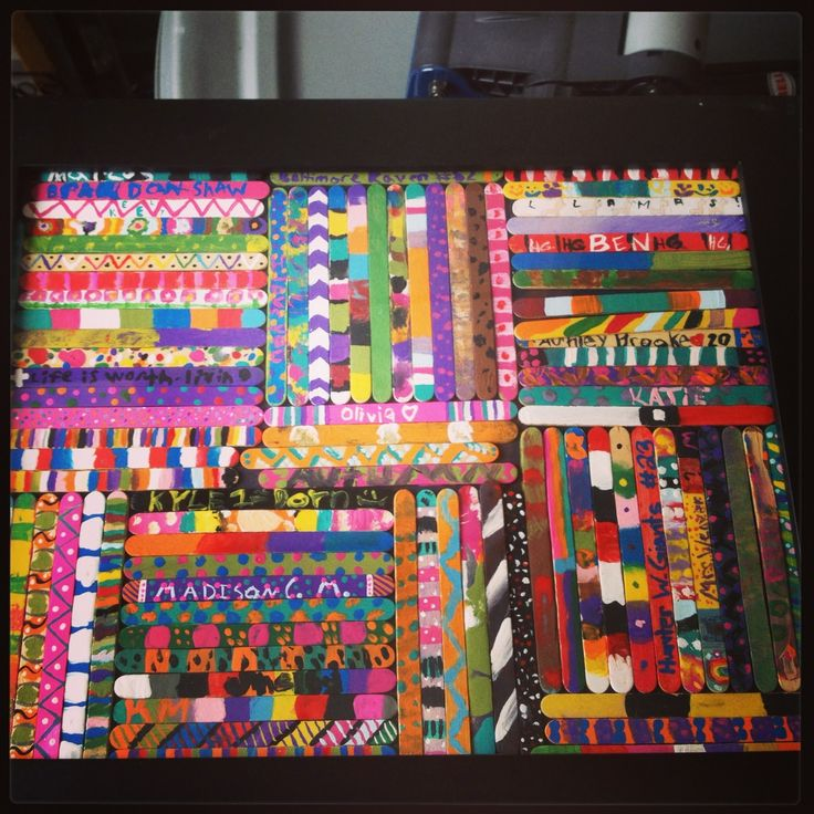 33 best popsicle stick art images on Pinterest | Popsicles, Baby ... : popsicle sticks quilt pattern - Adamdwight.com