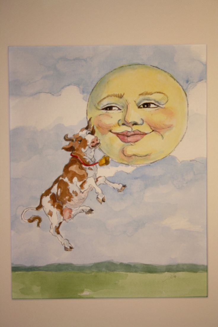 The Cow Jumped Over the Moon classic by DebbieLikleyPacheco