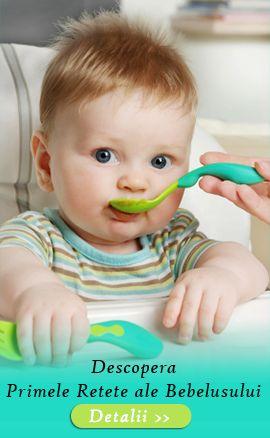Primele retete ale bebelusului tau, aici, in Clubul Bebelusilor >> http://clubulbebelusilor.ro/articole/45/retete-6-12-luni.html