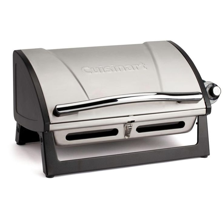 Cuisinart Grillster Portable Propane Gas Grill, Silver/Black http://grilingideas.org/best-smoker-grills/