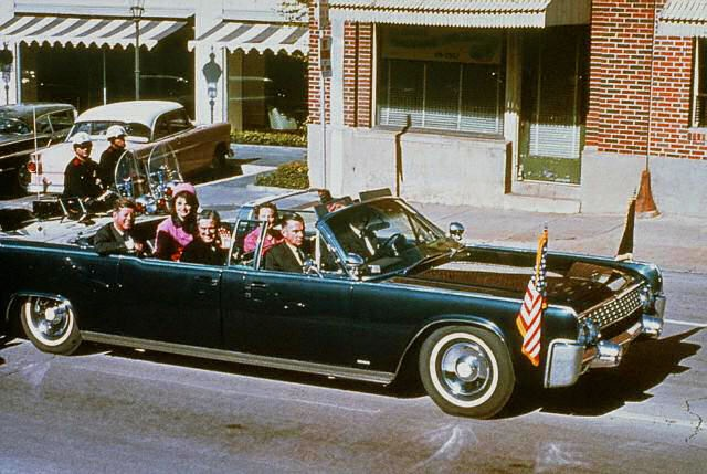 The Dallas motorcade, November 22, 1963.