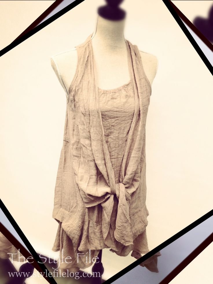This versatile Filo dress done drapey instead of belted.