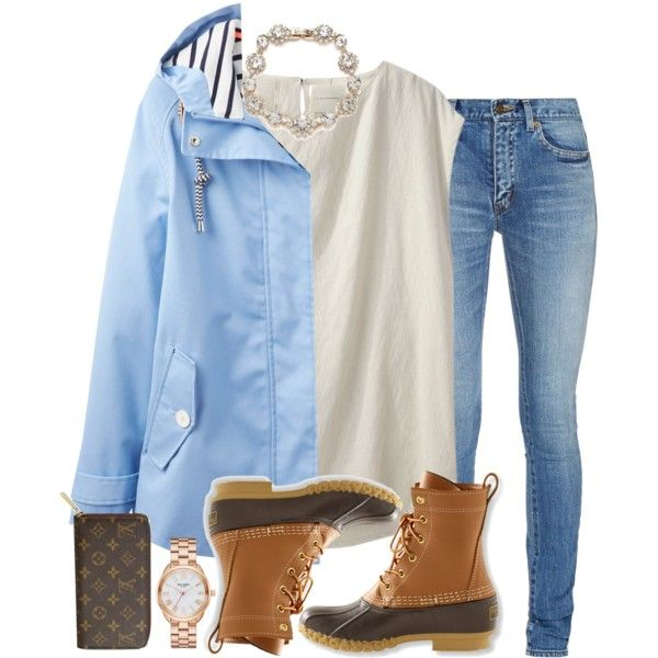 A fashion look from May 2016 featuring La Garçonne Moderne tops, Joules jackets and Yves Saint Laurent jeans. Browse and shop related looks.