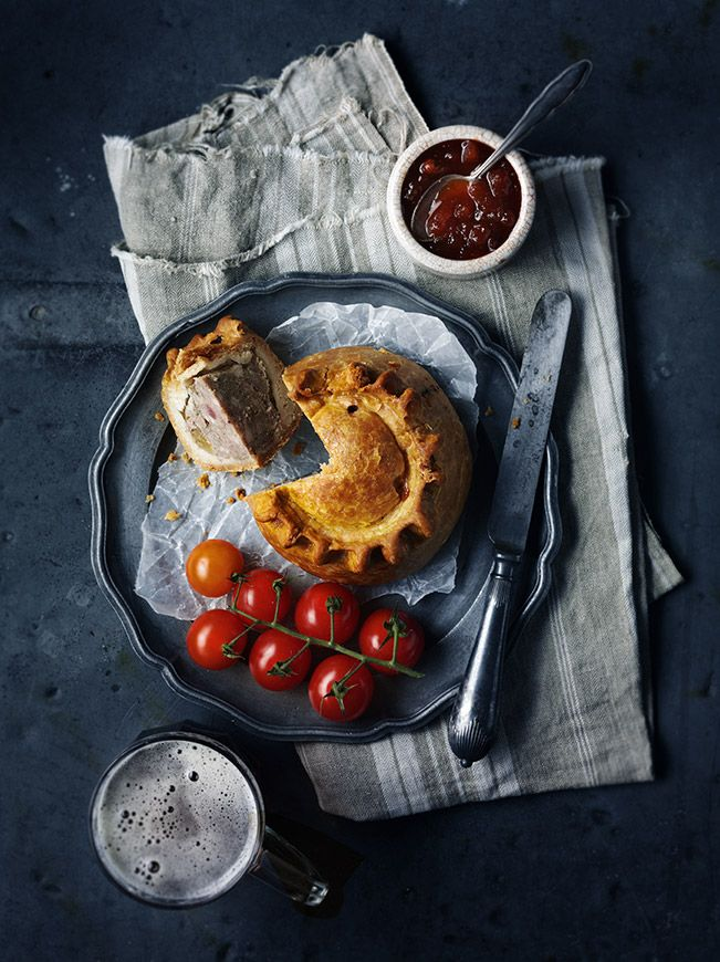 Pork Pie and Tomatoes - Simon Smith food photography food styling