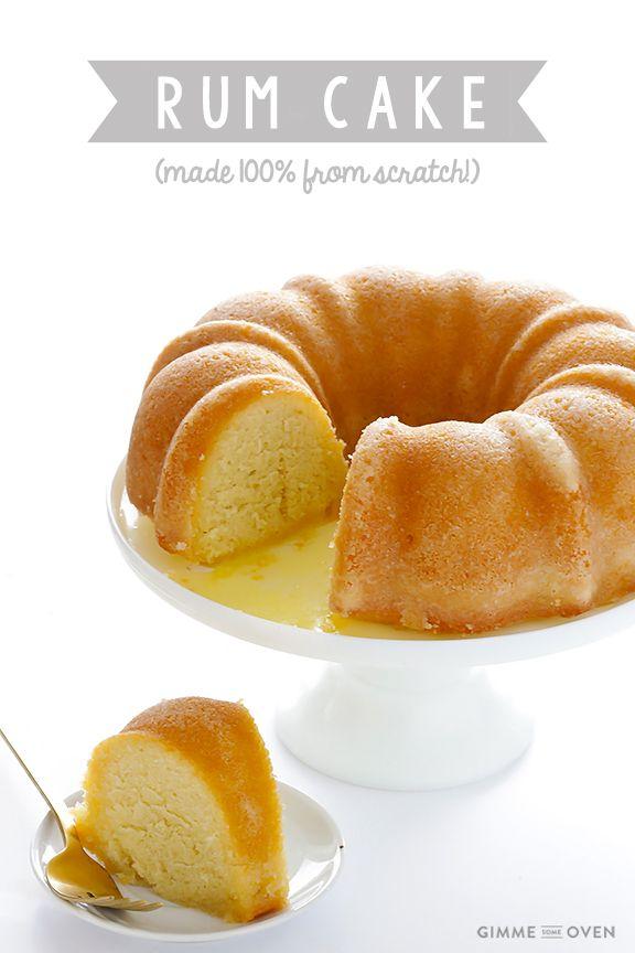 Golden Rum Cake Recipe From Scratch