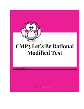 CMP3 Let's Be Rational Modified Test | Grade 6 Math | Math