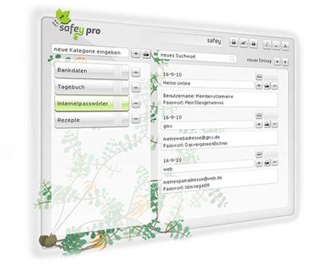 - safey, der digitale Daten- und Passwort-Safe