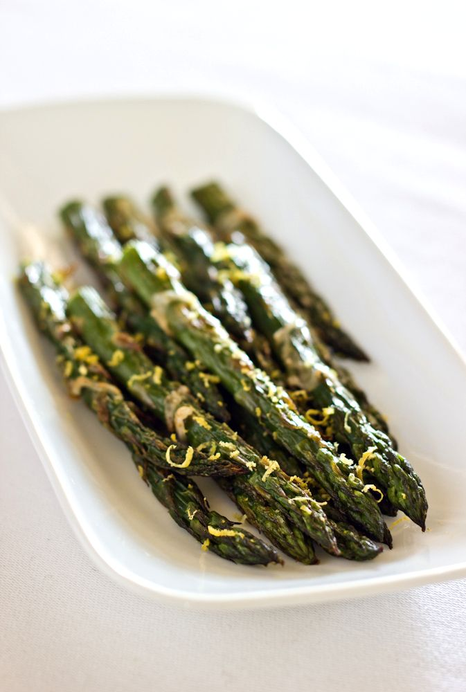 Roasted Asparagus with Parmesan and Lemon - Click for Recipe