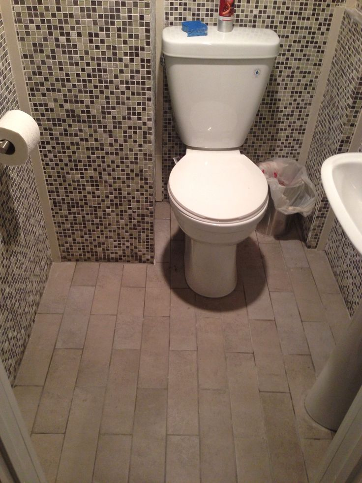 Floor Tile In Basement Powder Room Tile Flooring