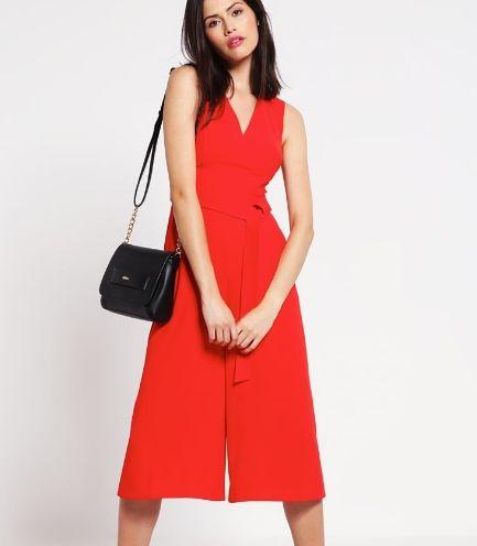 Karen Millen Kombinezon czerwony culottes red