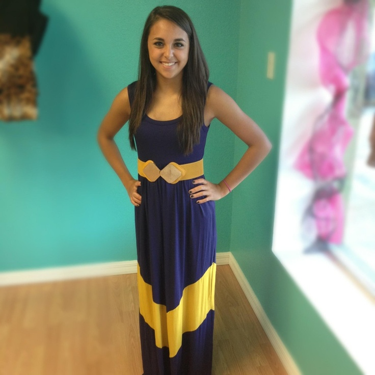 LSU Tigers Gameday dress! Love this but I need sleeves!!