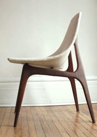 mid century teak chair