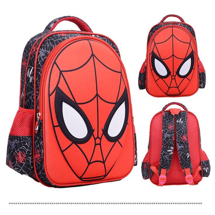 3D Print superman cool spiderman backpacks for teenage girls mochila Escolar school bags for teenagers kids kindergarten bagpack