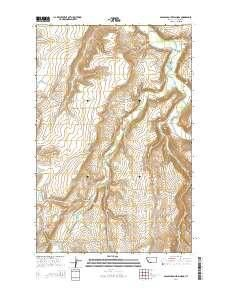 ~ Spanish Coulee School MT topo map, 1:24000 scale, 7.5 X 7.5 Minute, Current, 2014