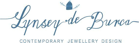 Lynsey De Burcas new logo. Contemporary jewelry design!  Logo designed by Heaventree Design.View more of our design work here: http://www.heaventreedesign.ie