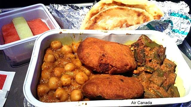 This meal at Air Canada was a little dry.