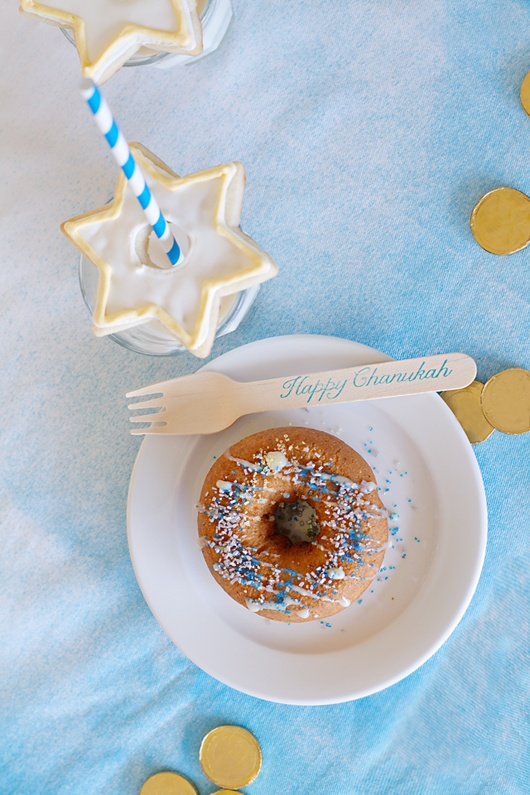 Modern Hanukkah Party - Doughnut Decorating and a New Take on Milk and Cookies