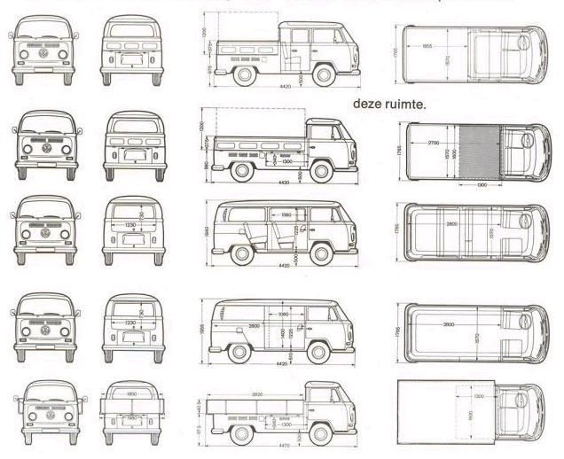 schematics of the various style of baywindows