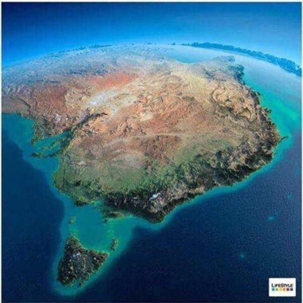 Map Of Australia From Space.A Stunning Picture Of Eastern And Central Australia From Space The