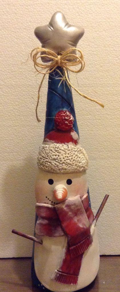 Pino decorativo en ceramica fria, realizado por Giovanna Marconi