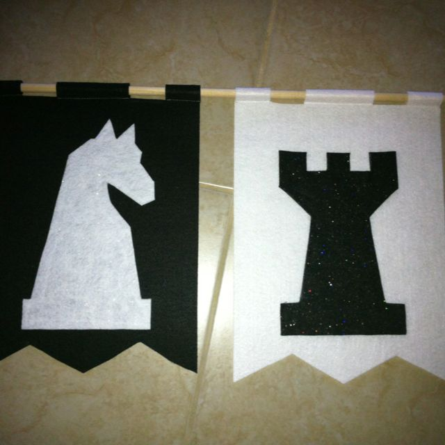 Classroom banners for teams. Chess. Castle theme classroom.