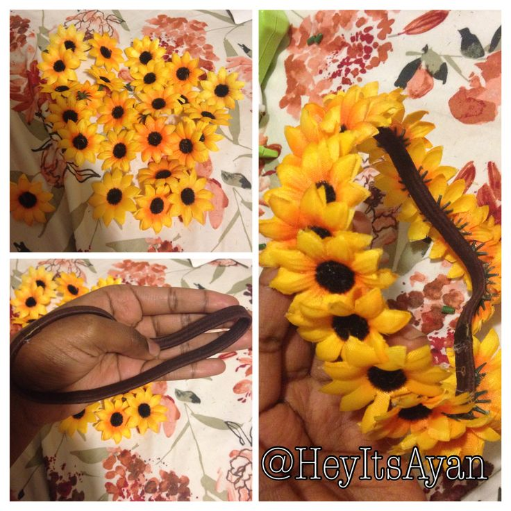 DIY flower headband @eparis97  we could make these to wear too.